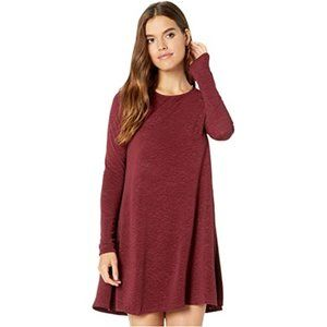 SHOW ME YOUR MUMU Toby Tie Dress Burgundy Medium